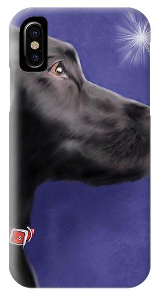 Black Labrador Retriever - Wish Upon A Star  IPhone Case