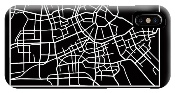 Holland iPhone Case - Black Map Of Amsterdam by Naxart Studio