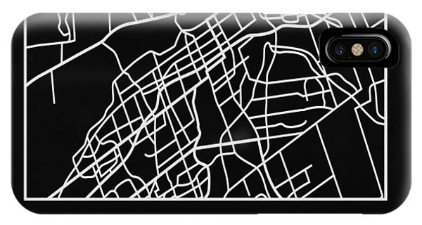 Souvenirs iPhone Case - Black Map Of Ottawa by Naxart Studio