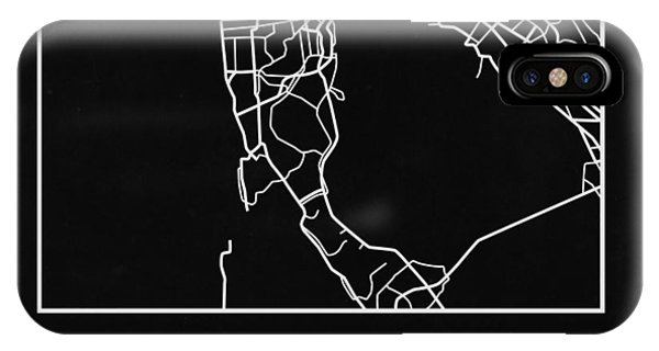 Souvenirs iPhone Case - Black Map Of San Francisco by Naxart Studio