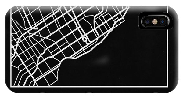 Souvenirs iPhone Case - Black Map Of Toronto by Naxart Studio