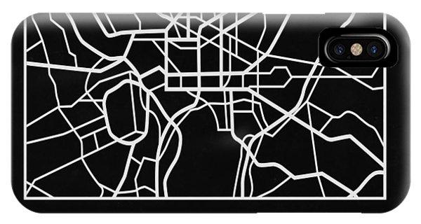 Discovery iPhone Case - Black Map Of Washington, D.c. by Naxart Studio