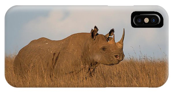 IPhone Case featuring the photograph Black Rhino by Thomas Kallmeyer
