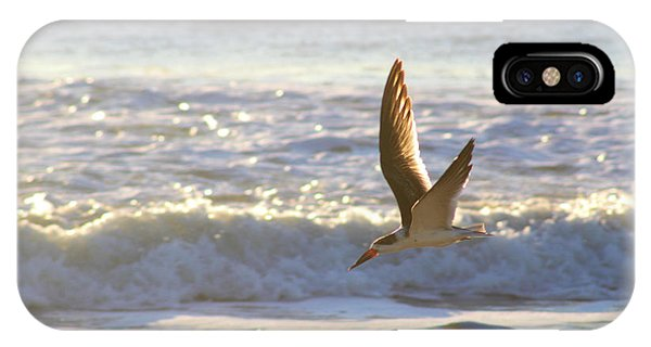IPhone Case featuring the photograph Black Skimmer In Flight by Robert Banach
