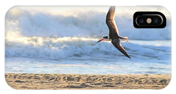 IPhone Case featuring the photograph Black Skimmer Soaring by Robert Banach