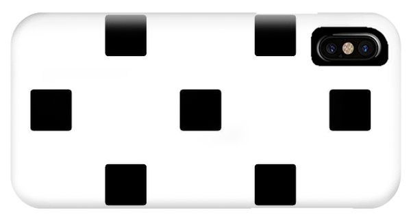 Black Squares On A White Background- Ddh574 IPhone Case