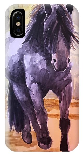 Black Stallion IPhone Case