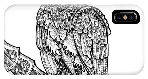 Black Vulture IPhone Case