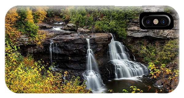 Appalachian Mountains iPhone Case - Blackwater Falls In Autumn by Chuck Haney