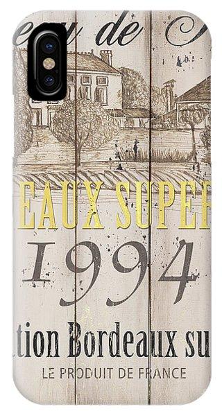 Agriculture iPhone Case - Blanc Wine Label 1 by Debbie DeWitt