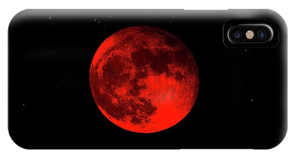 Blood Red Wolf Supermoon Eclipse 873a IPhone Case