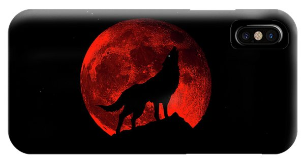 Blood Red Wolf Supermoon Eclipse 873l IPhone Case