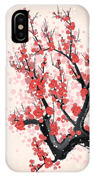 Harmony iPhone Case - Blooming Flowers On The Tree Branch by Yevhen Tarnavskyi