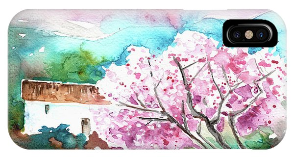 iPhone Case - Blossoming Almond Tree On The Costa Blanca by Miki De Goodaboom