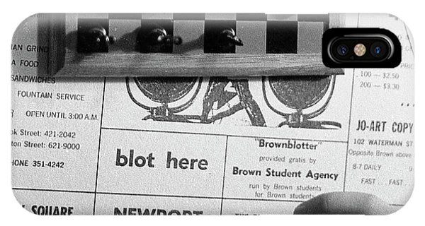 Blot Here, Aka Black's Move, 1972 IPhone Case