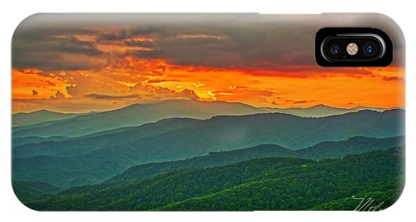 IPhone Case featuring the photograph Blowing Rock Sunset by Meta Gatschenberger