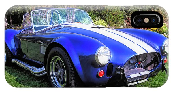 Blue 427 Shelby Cobra In The Garden IPhone Case