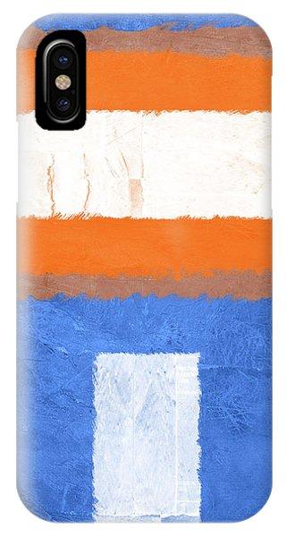 Century iPhone Case - Blue And Orange Abstract Theme II by Naxart Studio