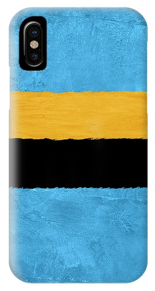 Century iPhone Case -  Blue And Square Theme I by Naxart Studio