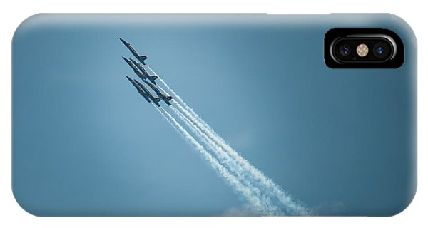 IPhone Case featuring the photograph Blue Angel Rockets by Mark Duehmig