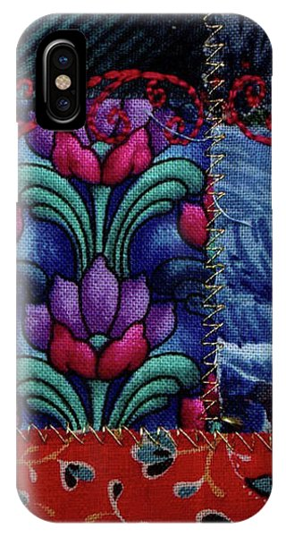 IPhone Case featuring the tapestry - textile Blue Bells by Linda Mae Olszanski