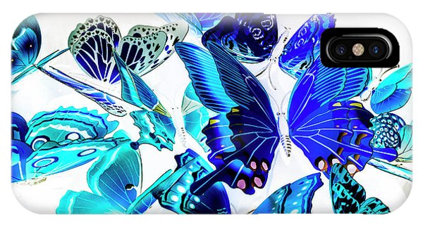 Moth iPhone Case - Blue Buggery  by Jorgo Photography - Wall Art Gallery