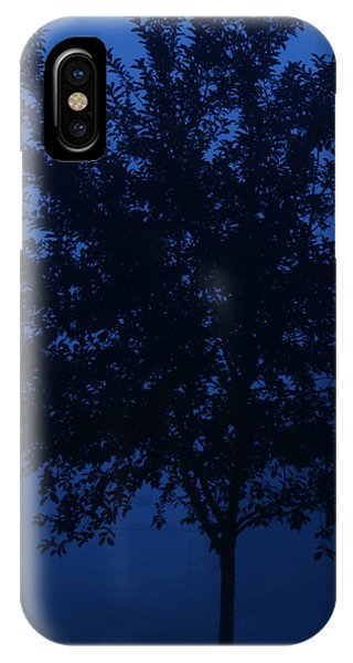 Blue Cherry Tree IPhone Case