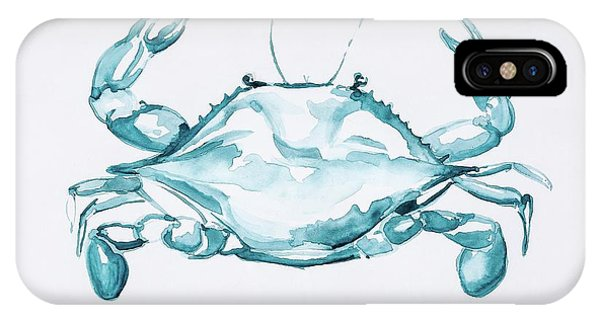 Blue Crab Turcoise IPhone Case