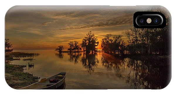 Blue Cypress Canoe IPhone Case