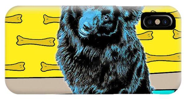 Blue Dog IPhone Case