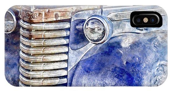 IPhone Case featuring the photograph Blue Gmc Truck by Brad Allen Fine Art