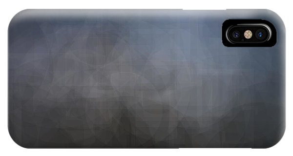Blue Gray Abstract Background With Blurred Geometric Shapes. IPhone Case
