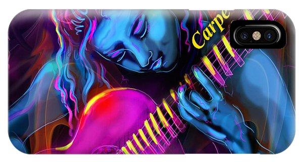 Blue Heart, Carpe Diem IPhone Case