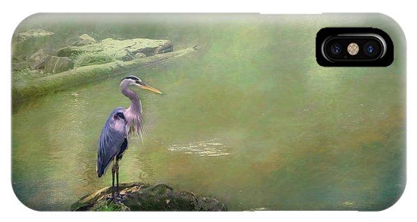 Blue Heron Isolated IPhone Case