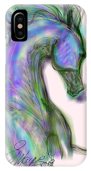 Blue Horse Painting IPhone Case