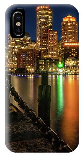 Blue Hour At Boston's Fan Pier IPhone Case