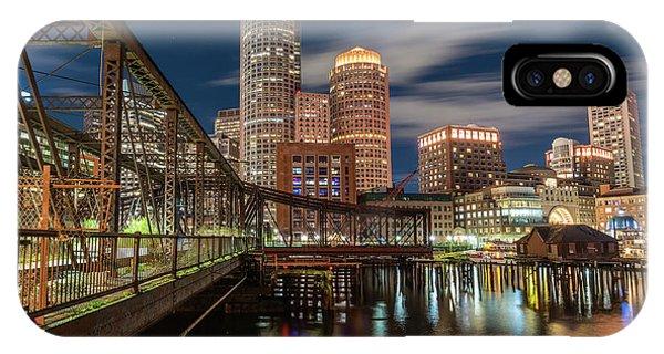 Blue Hour In Boston Harbor IPhone Case