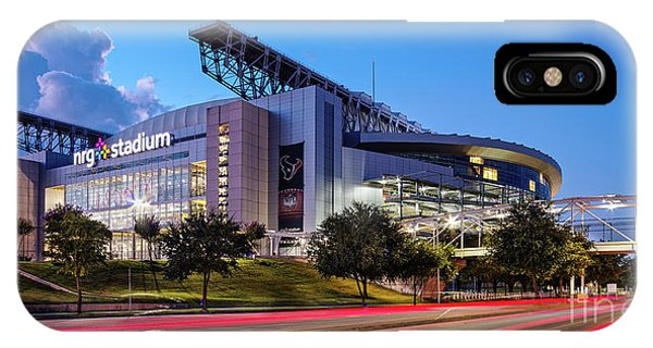 Blue Hour Photograph Of Nrg Stadium - Home Of The Houston Texans - Houston Texas IPhone Case