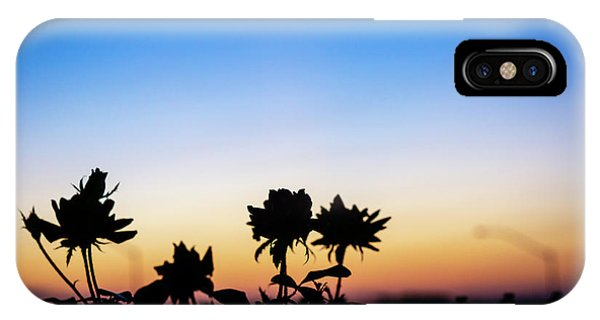 Blue Hour Sunset With Flowers IPhone Case