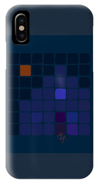 IPhone Case featuring the digital art Blue House by Attila Meszlenyi