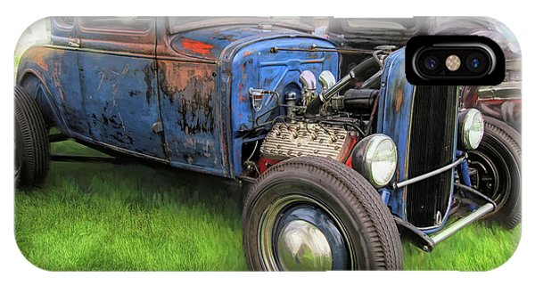 Blue Model A Ford Patina Rod IPhone Case