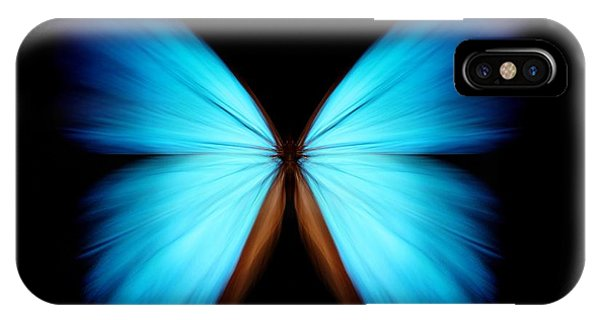 Clear iPhone Case - Blue Morpho by Ethylalkohol