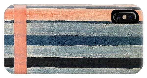 Blue Peachy Stripes IPhone Case