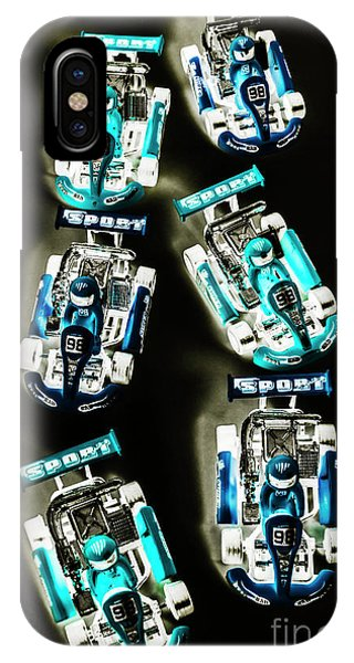 Cart iPhone Case - Blue Racers by Jorgo Photography - Wall Art Gallery