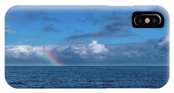 Blue Rainbow Horizon IPhone Case