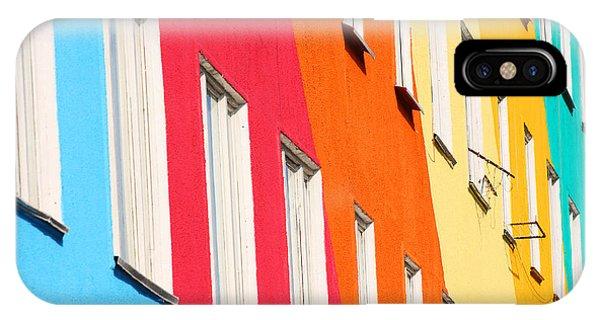 Estate iPhone Case - Blue, Red, Green, Orange Homes by Kochergin