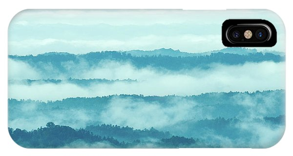 Blue Ridge Mountains Layers Upon Layers In Fog IPhone Case