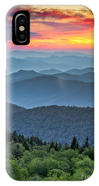 Layer iPhone Case - Blue Ridge Parkway Scenic Landscape by Dave Allen Photography