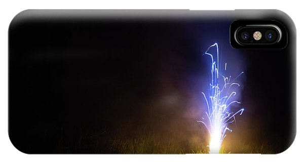 IPhone Case featuring the photograph Blue Roman Candle by Scott Lyons