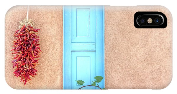Blue Shutters And Chili Peppers IPhone Case